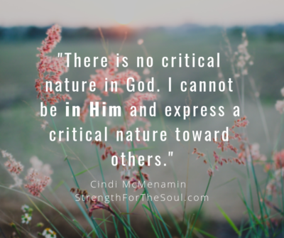 nature of God is not critical
